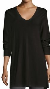 Eileen Fisher Size S Silk Tunic Longsleeve  Black
